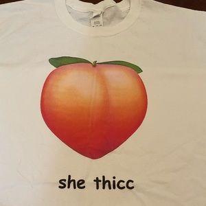 3XL t-shirt with a peach